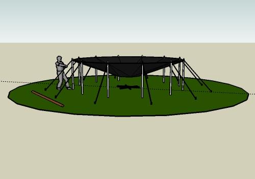 Aufbau Jurte Dach spannen