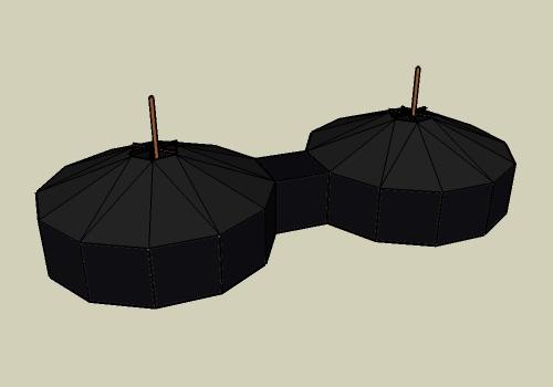 zwei jurten verbinden jurtenland zelte mit feuer im herzen. Black Bedroom Furniture Sets. Home Design Ideas