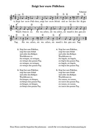 Waschfrauen Lied
